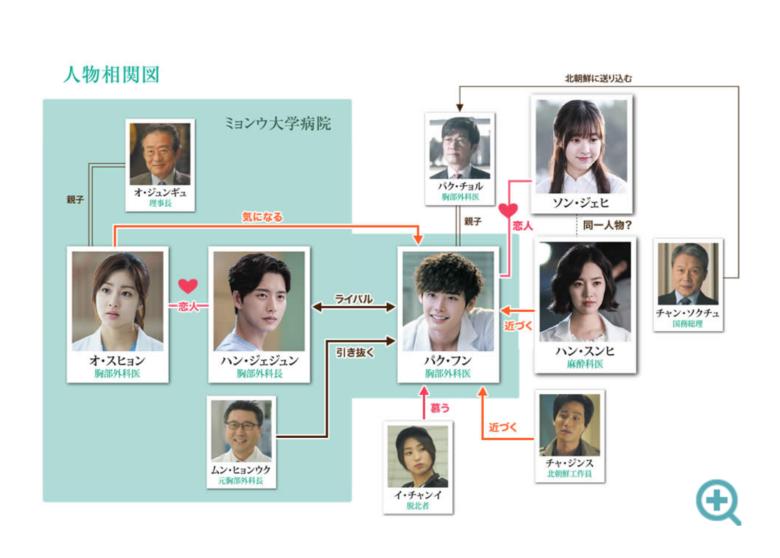韓国ドラマ ドクター異邦人 相関図